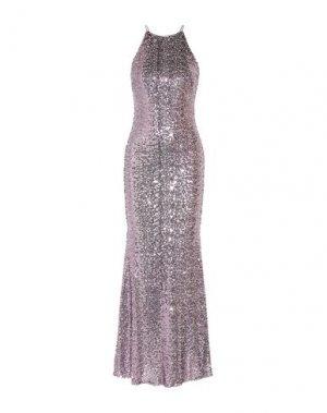 Длинное платье BADGLEY MISCHKA. Цвет: серый