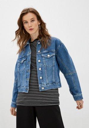 Куртка джинсовая 3x1. Цвет: синий