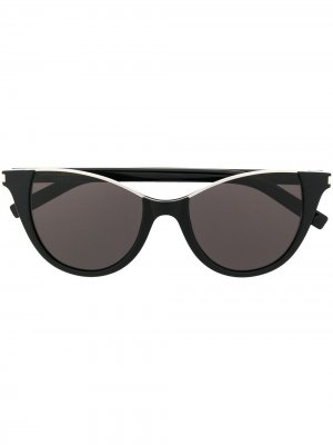 Солнцезащитные очки в оправе кошачий глаз Saint Laurent Eyewear. Цвет: черный