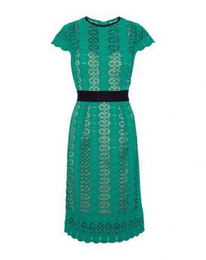 Платье до колена CATHERINE DEANE. Цвет: зеленый