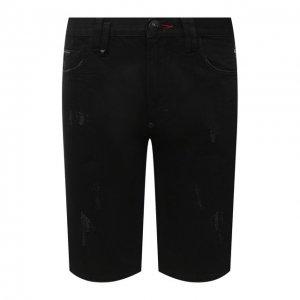 Джинсовые шорты Philipp Plein. Цвет: чёрный