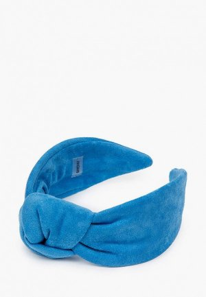Ободок Shovv С узлом. Цвет: голубой