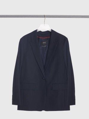 Костюмный пиджак SET. Цвет: синий