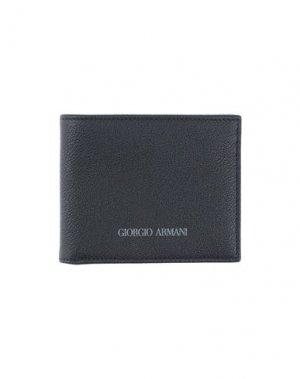 Бумажник GIORGIO ARMANI. Цвет: темно-синий