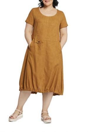 Платье D`imma. Цвет: светло-коричневый