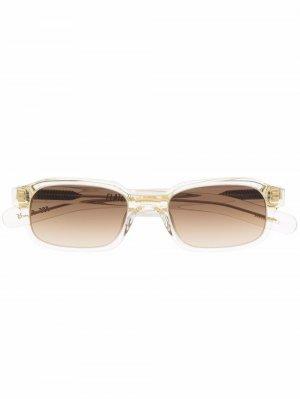 Солнцезащитные очки Hanky в квадратной оправе FLATLIST. Цвет: желтый