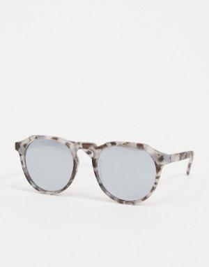Круглые черепаховые солнцезащитные очки -Серый Jack & Jones