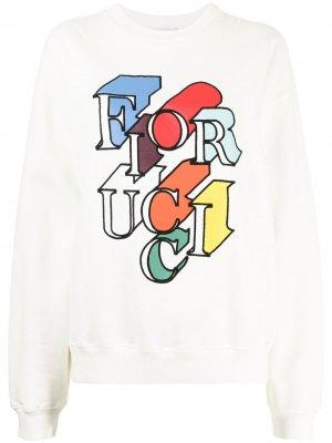 Толстовка с логотипом Fiorucci. Цвет: белый