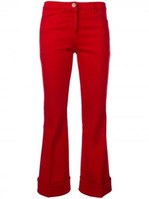 Расклешенные брюки Nº21. Цвет: красный