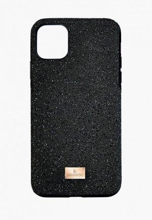 Чехол для iPhone Swarovski® 12/12 Pro. Цвет: черный