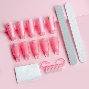 14шт набор инструментов для снятия лака SHEIN. Цвет: многоцветный