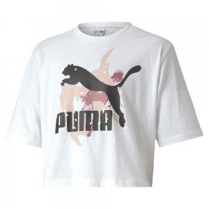 Детская футболка Classics Wild Tee PUMA. Цвет: белый