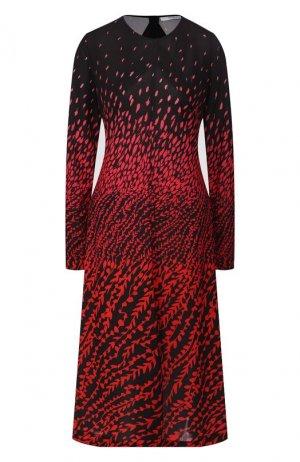Платье с принтом Givenchy. Цвет: красный