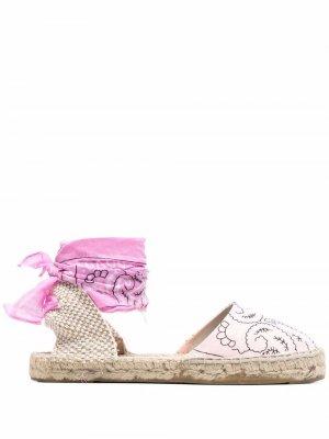 Эспадрильи с принтом Manebi. Цвет: розовый