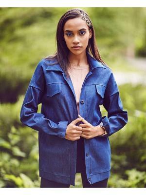 Куртка джинсовая C.H.I.C.. Цвет: синий