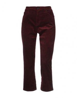 Повседневные брюки 7 FOR ALL MANKIND. Цвет: баклажанный