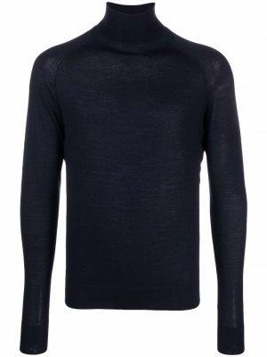 Embroidered logo knit jumper Peuterey. Цвет: синий