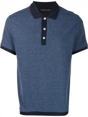 Рубашка-поло с контрастной отделкой Michael Kors. Цвет: синий
