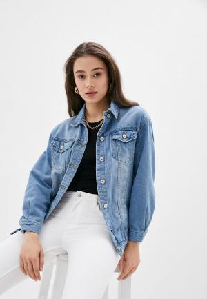 Куртка джинсовая Softy. Цвет: голубой