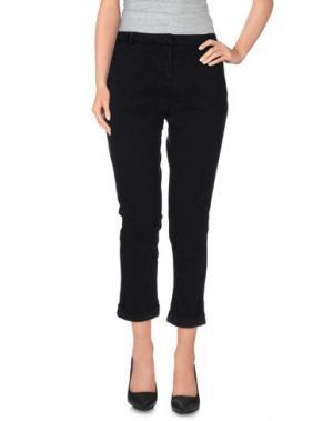 Джинсовые брюки-капри BRIAN DALES. Цвет: черный