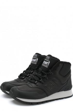 Высокие кожаные утепленные кроссовки 755 New Balance. Цвет: черный