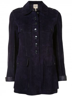 Однобортный пиджак Hermès. Цвет: синий