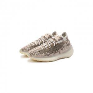 Кроссовки Yeezy Boost 380 Pyrate adidas Originals. Цвет: бежевый