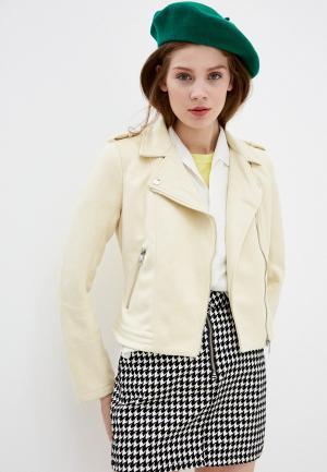 Куртка кожаная Tom Tailor Denim. Цвет: желтый