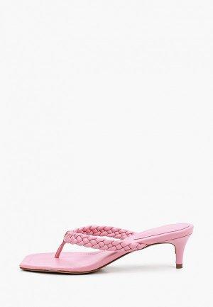 Сабо Arezzo. Цвет: розовый