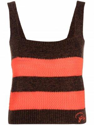 Striped knit top Pinko. Цвет: коричневый
