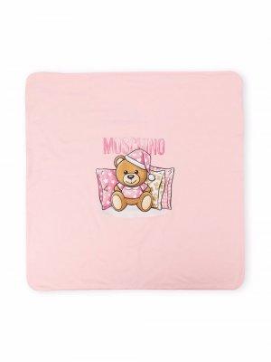 Одеяло Teddy Bear Moschino Kids. Цвет: розовый