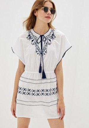 Платье пляжное NYMOS. Цвет: белый