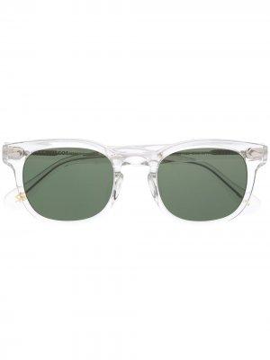 Солнцезащитные очки Gelt в квадратной оправе Moscot. Цвет: белый