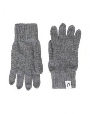 Перчатки RIFÒ. Цвет: серый