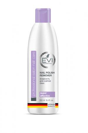 Жидкость д/снятия лака 250 мл EVI professional. Цвет: белый
