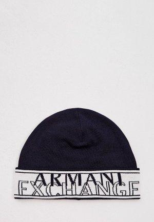 Шапка Armani Exchange. Цвет: синий