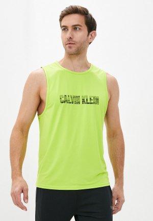 Майка Calvin Klein Performance. Цвет: желтый