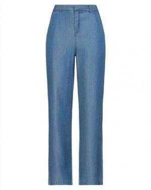 Повседневные брюки ICHI. Цвет: синий