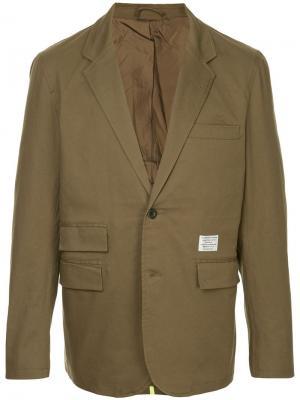 Приталенный пиджак с подкладкой Makavelic. Цвет: зеленый