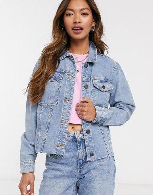 Голубая джинсовая куртка -Синий Noisy May