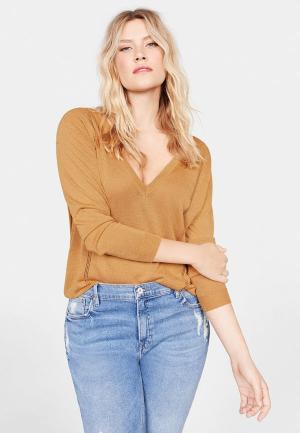 Пуловер Violeta by Mango - USINE. Цвет: бежевый