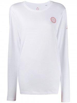 Топ с длинными рукавами и нашивкой-логотипом A.F.Vandevorst. Цвет: белый