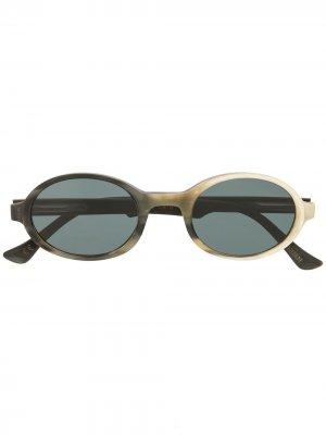 Солнцезащитные очки RG0072 в круглой оправе Rigards. Цвет: черный