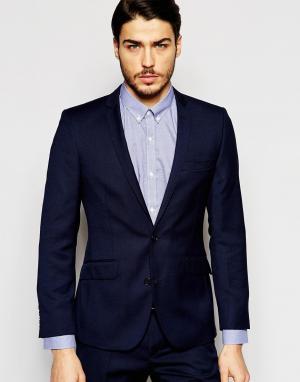 Однотонный пиджак Ben Sherman. Цвет: синий