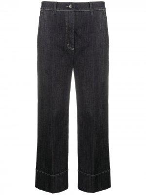 Укороченные джинсы широкого кроя Luisa Cerano. Цвет: синий