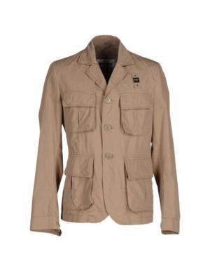 Пиджак BLAUER. Цвет: песочный