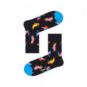 Cockatoo Half Crew Socks Happy. Цвет: черный