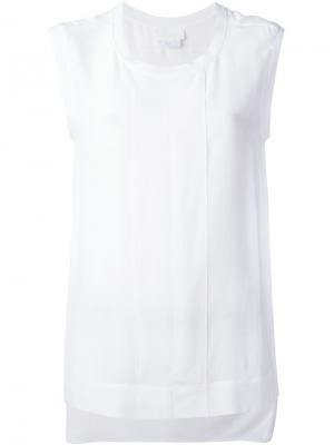 Майка с планкой DKNY. Цвет: белый
