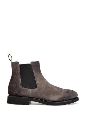 Ботинки-челси Genouf из окрашенной вручную замши DOUCAL'S. Цвет: коричневый
