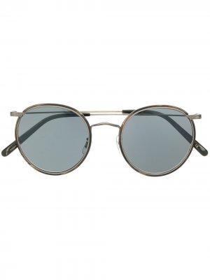 Солнцезащитные очки Casson в круглой оправе Oliver Peoples. Цвет: черный